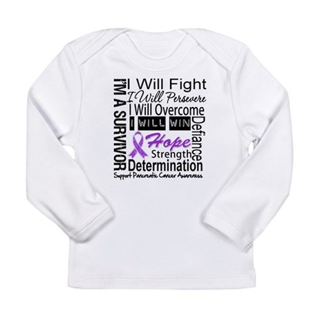Pancreatic Cancer Persevere Long Sleeve Infant T-S