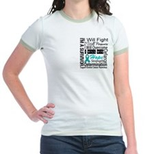 Ovarian Cancer Persevere Shirts T