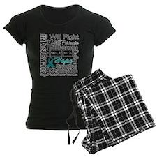 Ovarian Cancer Persevere Shirts Pajamas