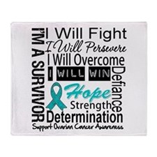 Ovarian Cancer Persevere Shirts Throw Blanket