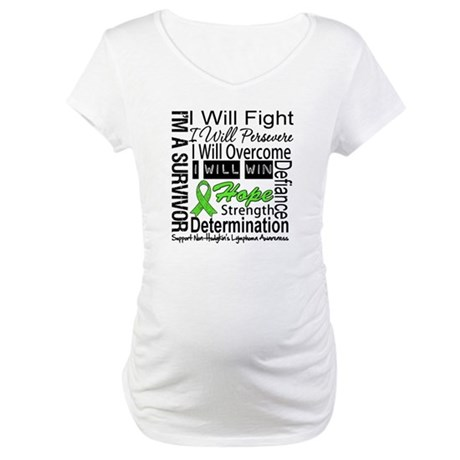 NonHodgkins Lymphoma Maternity T-Shirt