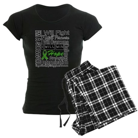 NonHodgkins Lymphoma Women's Dark Pajamas
