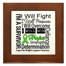NonHodgkins Lymphoma Framed Tile