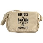 Burpees Bacon - White Messenger Bag