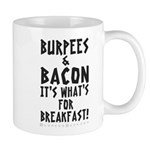 Burpees Bacon - White Mug