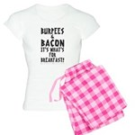 Burpees Bacon - White Women's Light Pajamas