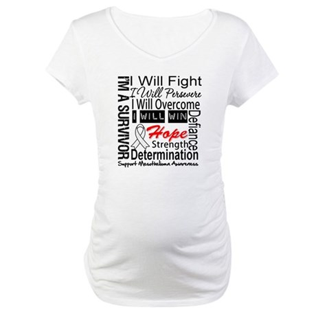 Mesothelioma Persevere Maternity T-Shirt