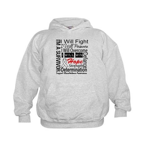 Mesothelioma Persevere Kids Hoodie
