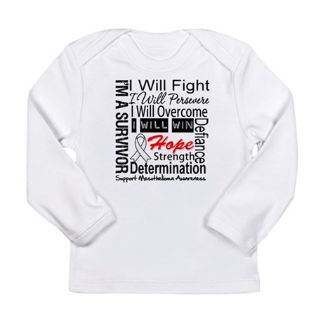 Mesothelioma Persevere Long Sleeve Infant T-Shirt