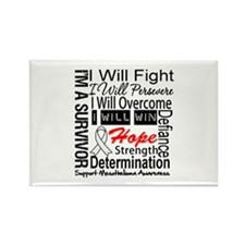 Mesothelioma Persevere Rectangle Magnet (100 pack)