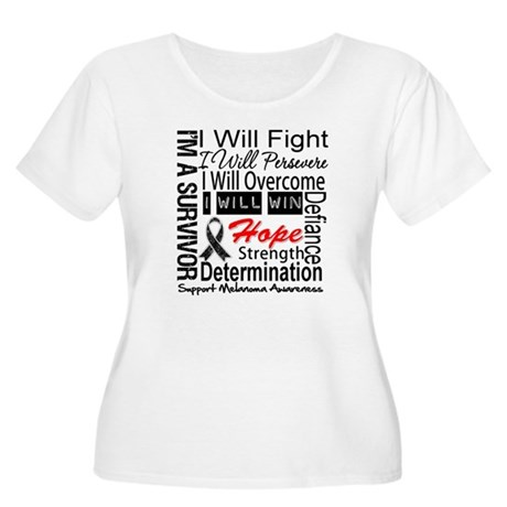Melanoma Cancer Persevere Shirts Women's Plus Size
