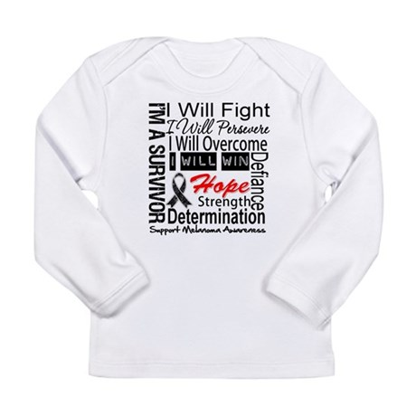 Melanoma Cancer Persevere Shirts Long Sleeve Infan