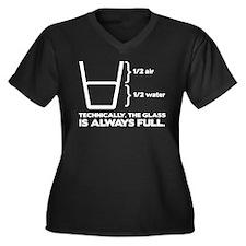 Glass Theory Women's Plus Size V-Neck Dark T-Shirt