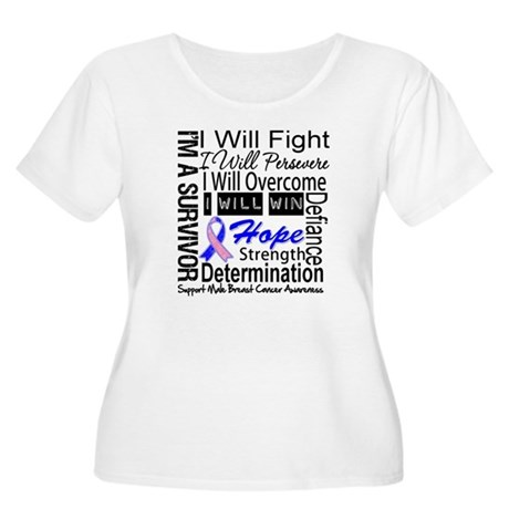Male Breast Cancer Persevere Women's Plus Size Sco