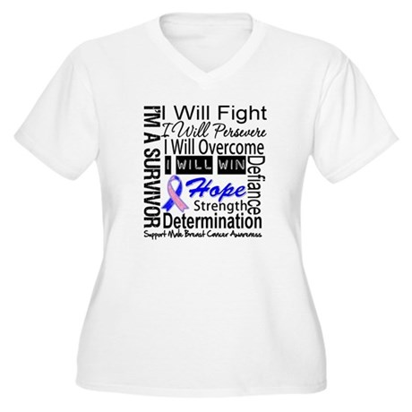 Male Breast Cancer Persevere Women's Plus Size V-N