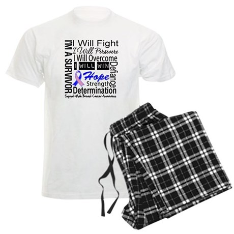 Male Breast Cancer Persevere Men's Light Pajamas