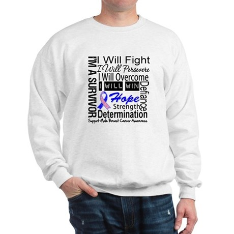 Male Breast Cancer Persevere Sweatshirt