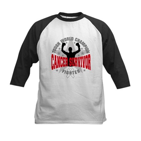 Mesothelioma Tough Survivor Kids Baseball Jersey