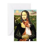 Mona Lisa - Basenji #1 Greeting Card