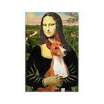 Mona Lisa - Basenji #1 Rectangle Magnet