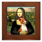 Mona Lisa - Basenji #1 Framed Tile