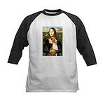 Mona Lisa - Basenji #1 Kids Baseball Jersey