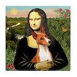 Mona Lisa - Basenji #1 Tile Coaster