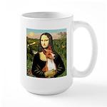 Mona Lisa - Basenji #1 Large Mug