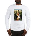Mona Lisa - Basenji #1 Long Sleeve T-Shirt