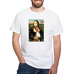 Mona Lisa - Basenji #1 White T-Shirt
