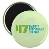 "Happy birthday 47 2.25"" Magnet (10 pack)"