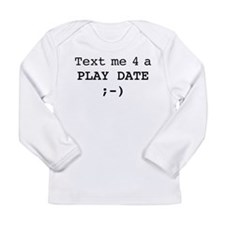 text me play10.eps Long Sleeve Infant T-Shirt