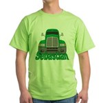Trucker Sebastian Green T-Shirt