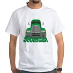 Trucker Sebastian White T-Shirt