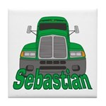 Trucker Sebastian Tile Coaster