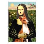 Mona Lisa - Basenji #1 Large Poster