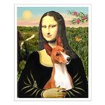 Mona Lisa - Basenji #1 Small Poster
