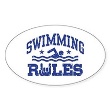 Swimming Rules Decal