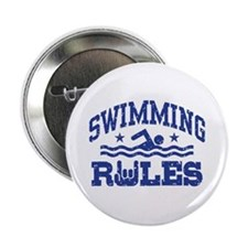 """Swimming Rules 2.25"""" Button"""
