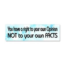 Opinion & Facts Car Magnet 10 x 3