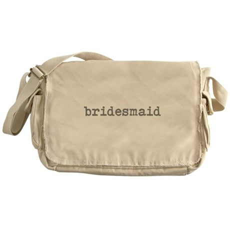 bridesmaid dark gray Messenger Bag
