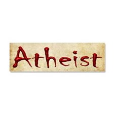 Bloody Atheist Car Magnet 10 x 3