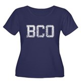 BCO, Vintage, Women's Plus Size Scoop Neck Dark T-