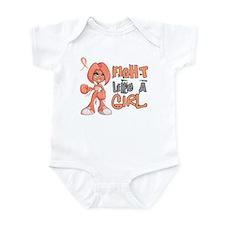 Licensed Fight Like a Girl 42.8 Ut Infant Bodysuit