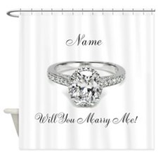 Engagement Shower Curtain