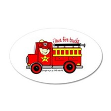 FIRE TRUCK - LOVE TO BE ME 38.5 x 24.5 Oval Wall P
