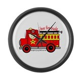 FIRE TRUCK - LOVE TO BE ME Large Wall Clock