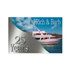 Barb Yacht Rectangle Magnet (10 Pack) Rectangle Ma