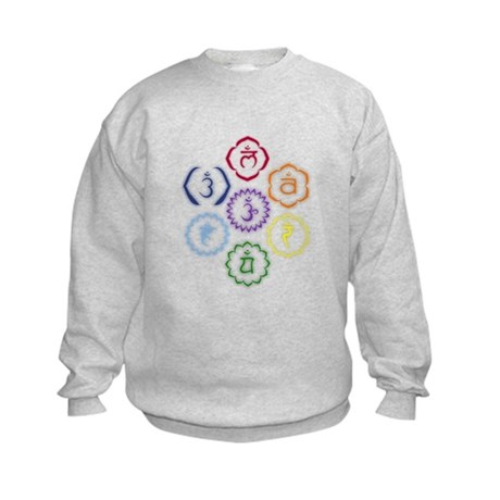 7 Chakras in a Circle Kids Sweatshirt