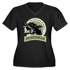 Cute Purebred dogs Women's Plus Size V-Neck Dark T-Shirt
